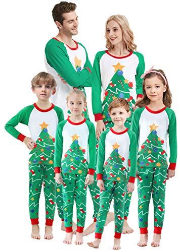 Matching Family Christmas Pajamas Boys Girls Tree Jammies Women Pyjamas Size S