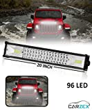 Carzex 96 LED 20 INCH Waterproof Spot + Flood Beam Highway Night Driving