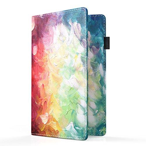 MoKo RFID Bloqueo de la Billetera del Titular del Pasaporte, Cubierta de Pasaporte Multiusos Funda de Billetera de Viaje Premium de Cuero PU - Colores Mezclados