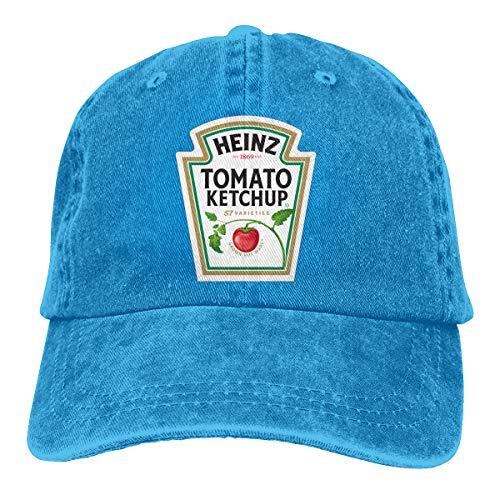 Heinz Tomato Ketchup Baseball Cap Sports Cap Adult Trucker Hat Mesh Cap Blue