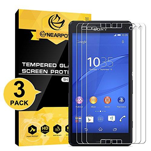 NEARPOW [3 Stück] Sony Xperia Z3 Compact Panzerglas Displayschutzfolie, Schutzfolie 9H Härte, Anti-Kratzen, Anti-Öl, Anti-Bläschen, Anti-Fingerabdruck