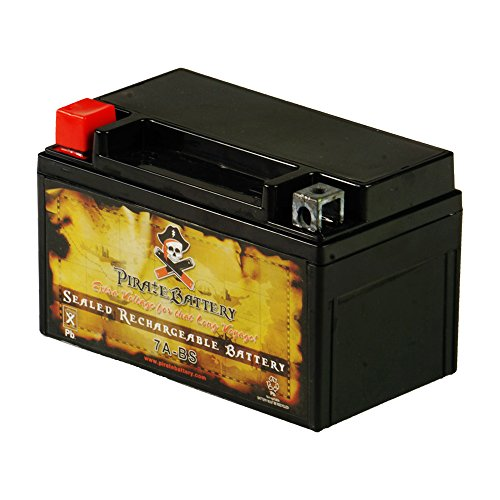 Chrome Battery Rechargeable YTX7A-BS Power Sports Battery - High Performance - Maintenance Free- AGM - Sealed Replacement for Gas Gy6 Scooter Moped 50CC and 125CC