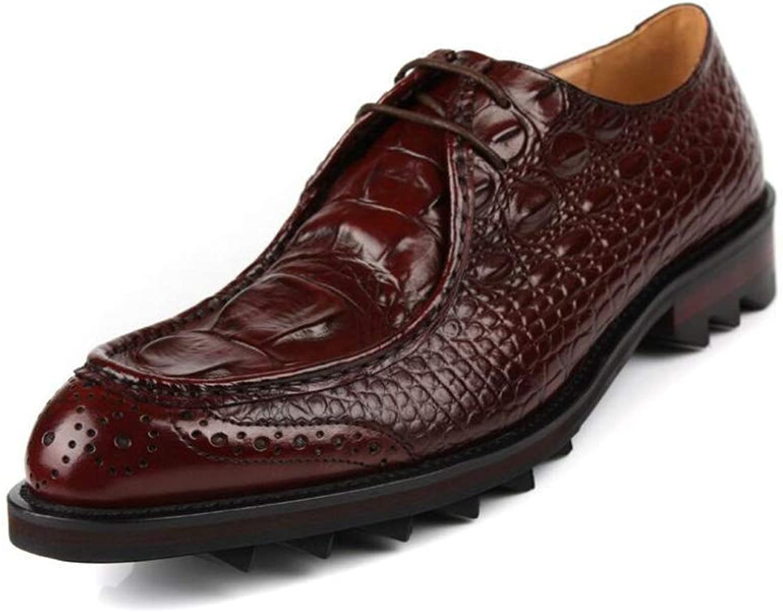 Formala Formala Formala skor för FuweiEncore herrar Mode Leather, Business Pointed Toe skor, British Style Unime Dress skor, Wedding skor, Casual Party, bspringaa, 39 (Färg  Som visas, Storlek  En storlek)  erbjuder 100%