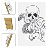 Electronic LED Digital Alarm Clock Loud Multifunction City Voice Control Dark Skull with Tentacles Octopus with USB Charger