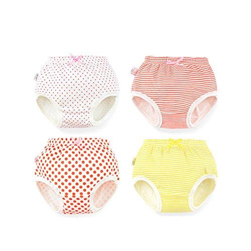 Tancurry Baby Mädchen Windelhose Mit Streifen Punkt Muster Baumwolle Kinder Unterhosen, Streifen Punkte Muster, 110