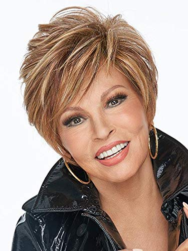 """On Your Game Wig Color RL19/23SS SHADED BISCUIT - Raquel Welch Wigs 12"""" Perfect Angled Bob Razor Cut Heat Friendly Monofilament Top Classic Natural Peluca Memory Cap Bundle MaxWigs Hairloss Booklet"""