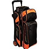 Hammer Premium Triple Roller Bowling Bag, Black/Orange
