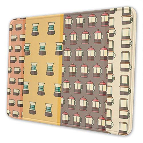Gaming Mouse Pad - Vektor Kaffee Rechteck Gummi Mousepad - Mausmatte für Geschenkunterstützung Kabelgebundene drahtlose oder Bluetooth-Maus