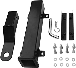 Lonwin Rear Seat Trailer Hitch with Receiver for Step on Back of Golf Cart Club CAREZGO Yamaha