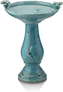 Best antique ceramic birdbath with birds alpine corporation Reviews