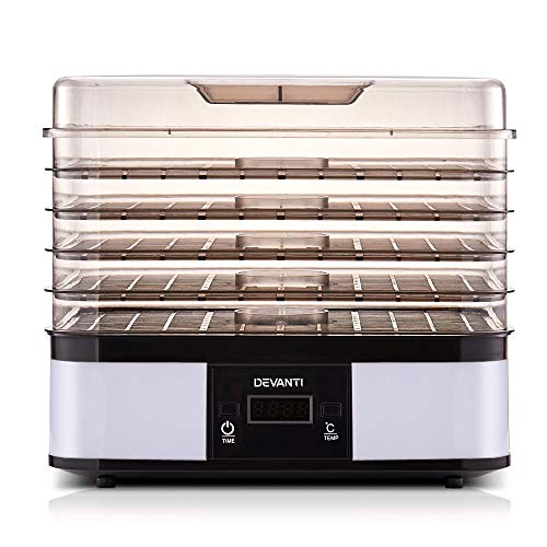5 Trays Food Dehydrator Commercial Fruit Dryer Drying Beef Jerky Maker Stainless Steel White