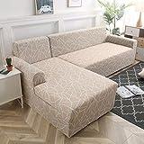 WXQY Funda de sofá de Esquina en Forma de L combinación Antideslizante Funda de protección de sofá elástica Funda Protectora de sofá de protección para Mascotas A15 1 Plaza