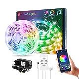 Lixada Juego de Luces de Tira de LED Música USB RGB Iluminación de Cuerda LED Flexible 4 Teclas BT Controlador Caja Temporizador Cortable Tiras de LED Autoadhesivas
