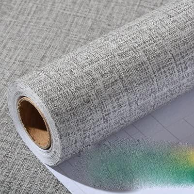 GLWXAHI Fondo de Pantalla Autoadhesivo de Vinilo de PVC para Dormitorio Sala de Estar Decoración de la Pared Calcomanías para la Cocina Contacto Papel Pegatinas de Pared Flax Gray 60cmX5m