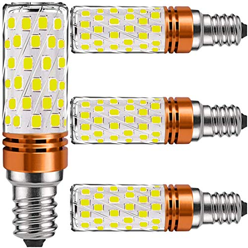 Lampadine LED E14 Luce Fredda 12W - Lampadina E14 LED Fredda di mais equivalenti 100W incandescenza,Bianca Led 6000K 1450lm, Nessun Sfarfallio Edison mais Lampadina non dimmerabile 4 Pezzi