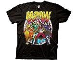 Ripple Junction Big Bang Theory Bazing Group Comic Heros Photo Adult T-Shirt Medium Black