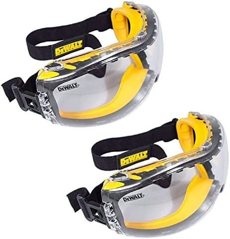 DEWALT DPG82 11 Concealer Clear Anti Fog Dual Mold Safety Goggle Pack of 2 product image