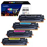 GPC Image Compatible 203X Toner Cartridges for HP 203X CF540X 203A for HP Color Laserjet Pro MFP...