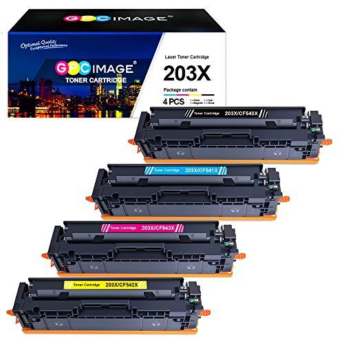GPC Image Kompatible 203X Toner als Ersatz für HP 203X CF540X 203A CF540A für HP Color Laserjet Pro MFP M281fdw M281fdn M281cdw M280nw Pro M254dw M254nw M254dn M281 (Schwarz Cyan Gelb Magenta, 4-Pack)