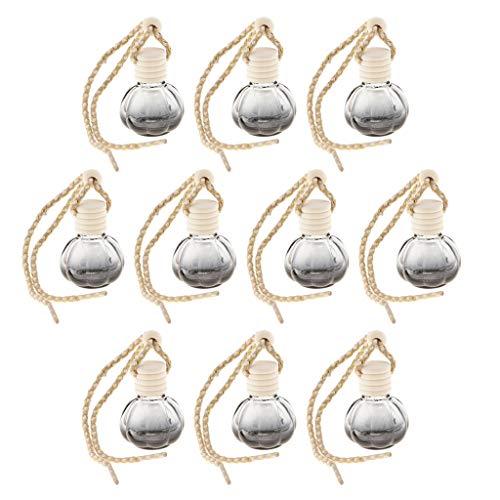 Baoblaze 10x 10ml Bouteille de Diffuseur de Parfum de Voiture Rechargeable Pendentif Suspendu