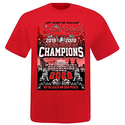 CFL Liverpool 2020 Premier League Champions T-Shirt (100% Baumwolle) (S)