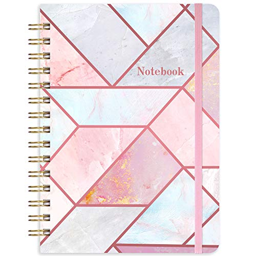 """Ruled Notebook/Journal - Lined Journal with Hardcover, 8.35"""" x 6.3"""", College Ruled Spiral Notebook/Journal, Back Pocket, Strong Twin-Wire Binding with Premium Paper, Home & Office"""