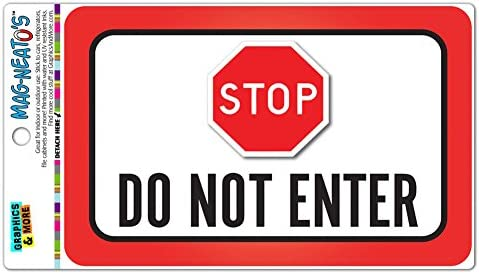 Stop Do Not Enter Vinyl Magnet Sign product image