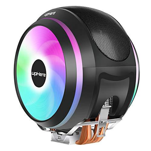 upHereオリジナル設計サイドフローCPUクーラーデュアルPWMマルチカラーファン採用Intel/AMD両対応【CCF150CF】