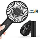 FUNME Handheld Fan Portable Personal Fan Supports 17 Hours of Use Max, Foldable...