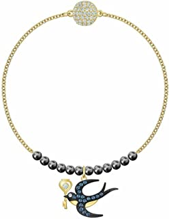 SWAROVSKI 5511085 Gold-Tone Plated Crystal Remix Collection Swallow Multicolor Strand Women's Bracelet