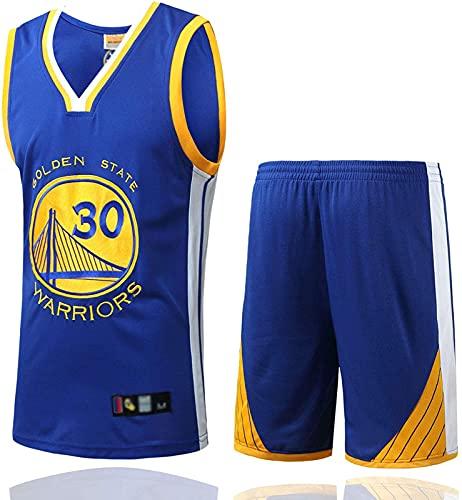 CPBY Camiseta de baloncesto para hombre y mujer, estilo retro, para baloncesto, camiseta y pantalones cortos, bordado con bola transpirable, color blanco, M, azul - M