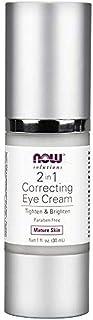 كريم معالج للهالات السوداء والتجاعيد حول العين Now Foods, Solutions, 2 in 1 Correcting Eye Cream