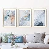 Cartel de arte Moderno Abstracto Nórdico Lienzo Pintura Luz Luz Lujo Imagen abstracta Decoración para el hogar para la pared de la habitación Cuadros 40x60cmx3 sin marco