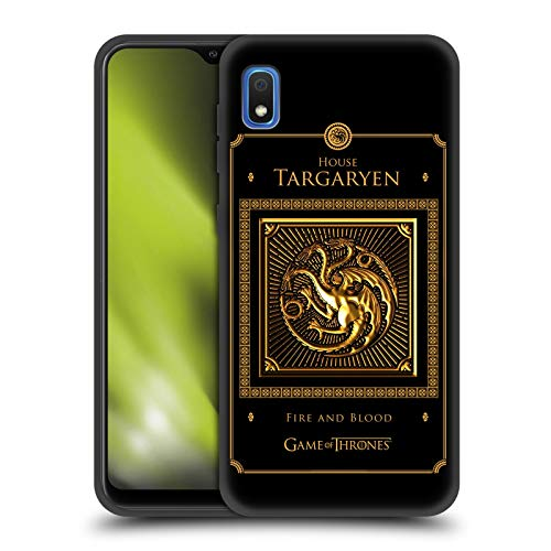 Official HBO Game of Thrones Targaryen Border Golden Sigils Skinny Fit Hybrid Iced Case Compatible for Samsung Galaxy A10 (2019)