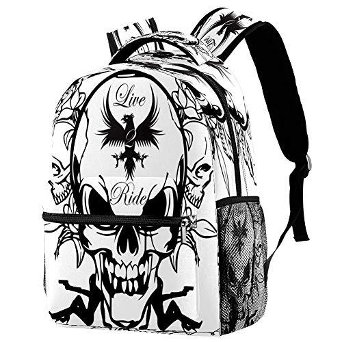 Cool Bulldog Mochila Mochila escolar Bolsa de libro Casual Daypack para viajes, estampado 8 (Multicolor) - bbackpacks004