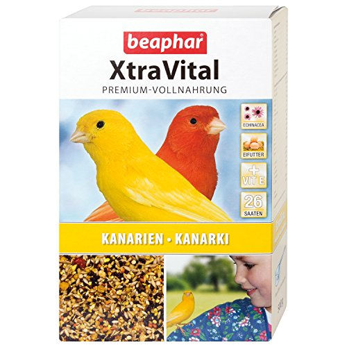 Beaphar XTRAV Ital Canary Food Delicious Canary Food with Fruits and Eifutter with Echinacea & Vitamin E 26Different Places–| 500g