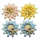 UPKOCH 4 piezas servilleteros anillos flores de abeja hebillas de servilletas...