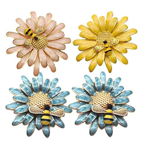 UPKOCH 4 piezas servilleteros anillos flores de abeja