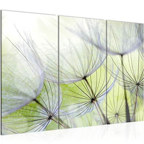 Runa Art Pusteblume Bild Wandbilder Wohnzimmer XXL Grün Natur 120 x 80 cm 3 Teilig Wanddeko 206131a