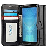 J&D Case Compatible for Xperia XZ3 Case, Wallet Stand Slim Fit Heavy Duty Protective Shock Resistant Flip Cover Wallet Case for Sony Xperia XZ3 Wallet, Black