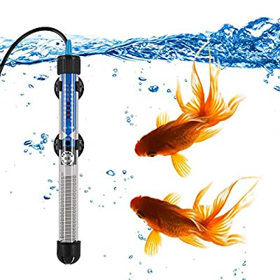 Mylivell Aquarium Heater Submersible Auto Thermostat Heater,Fish Tank Water Heater and Adjustable Temperature with Suction Cups and Protective Cover