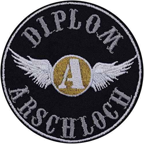 Parche termoadhesivo con diseño de diploma, para moto, moto, bordado, para plancha, adhesivo de metal,...