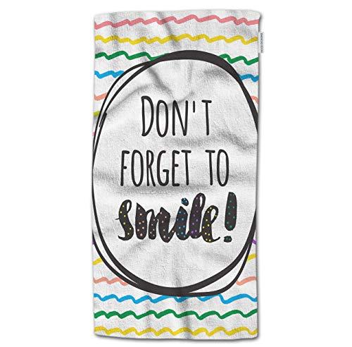 NHUXAYH Cita de Toallas de Mano, no se Olvide de sonreír con Frases positivas con un Color de Toallas de Mano pintadas a Mano 27.5