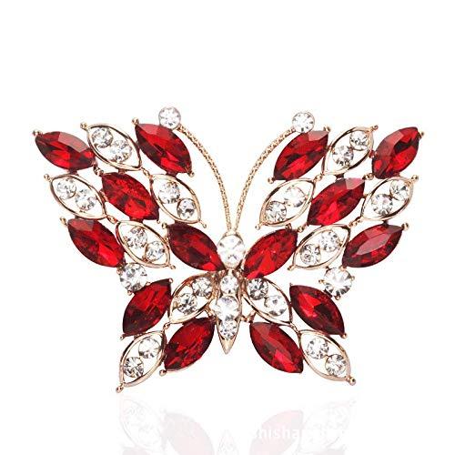 Modolady Koreaanse Mode Sieraden Legering Sieraden Oostenrijkse Diamant Vlinder High-Grade Broche Crystal Broche 33 * 40Mm