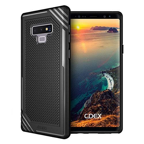 doupi Fashion Armor Funda para Samsung Galaxy Note 9, Design Protector Cubierta Bumper Antideslizante Protección Cover, Negro