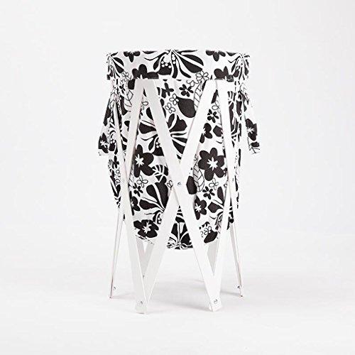 Xuan - Worth Another Modèle Blanc de Fleurs Noires Stent Blanc Changer Les paniers de vêtements Panier de Rangement Salle de Bain en Tissu avec Panier à Linge Plier Le Panier