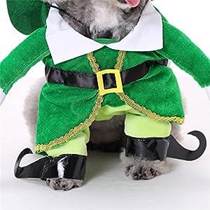 Uni Meilleur Halloween Cosplay Manteau Funny pour animal domestique Costume marcher Droit pour chien Apparel Capuche Charistmas Cowboy Guitare Singer Move citrouille