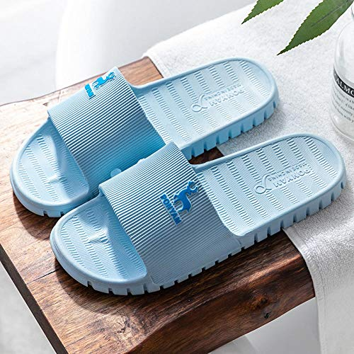 Wenhua Fußreflexzonenmassage Sandalen,Hausmassage-Hausschuhe mit weichem Boden, rutschfeste Badesandalen und Hausschuhe - Hellblau 12_36-37,Massage Hausschuhe Schuhe
