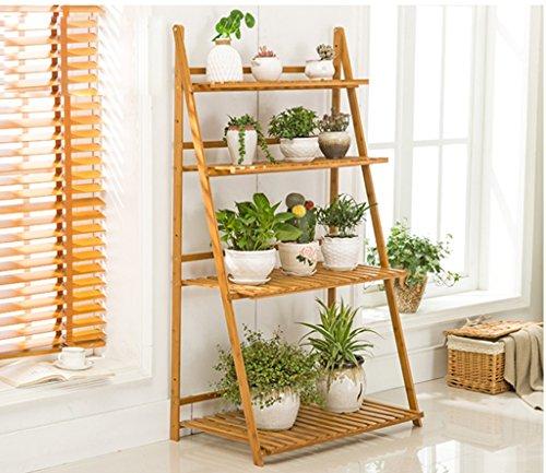 Supports à fleurs en bois Support à fleurs en bambou multifonctions Salon Pliable plusieurs couches Support à fleurs (3 tailles en option) ( taille : *80cm )