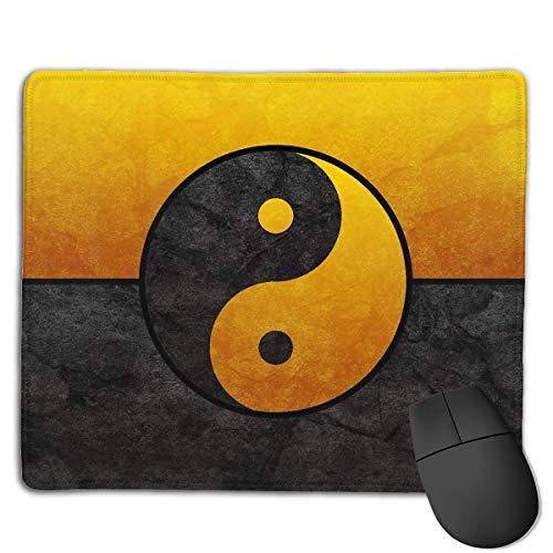 Alfombrilla de ratón Yin Yang Gold Graphics Rectangular Mousepad Antideslizante Gaming Mouse Pad Mouse Mat 25X30CM